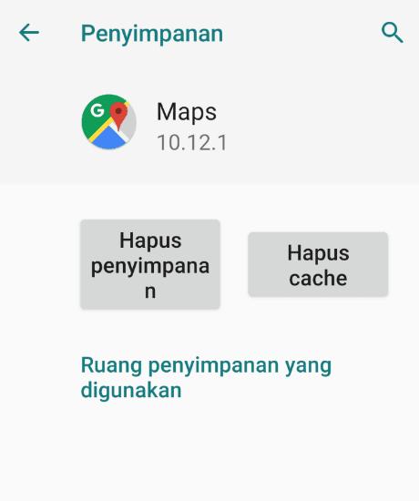 Clear Cache Aplikasi GPS