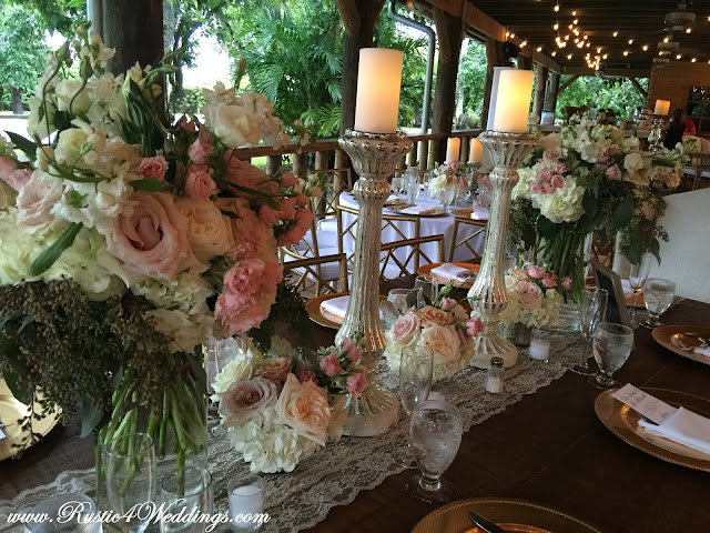 Close-Up of Table Centerpieces and Floral Arrangements