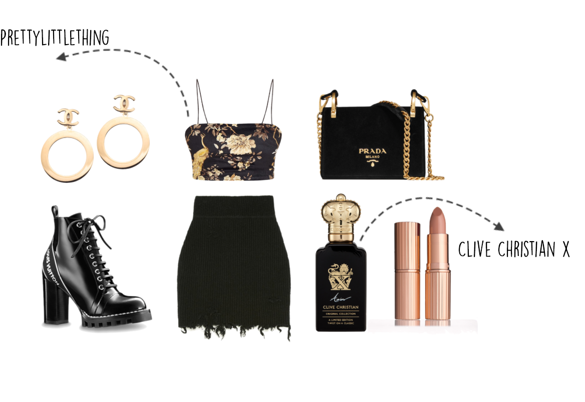 valentines outfit 2018, clive christian perfume, vintage chanel, polyvore outfit, louis Vuitton boots