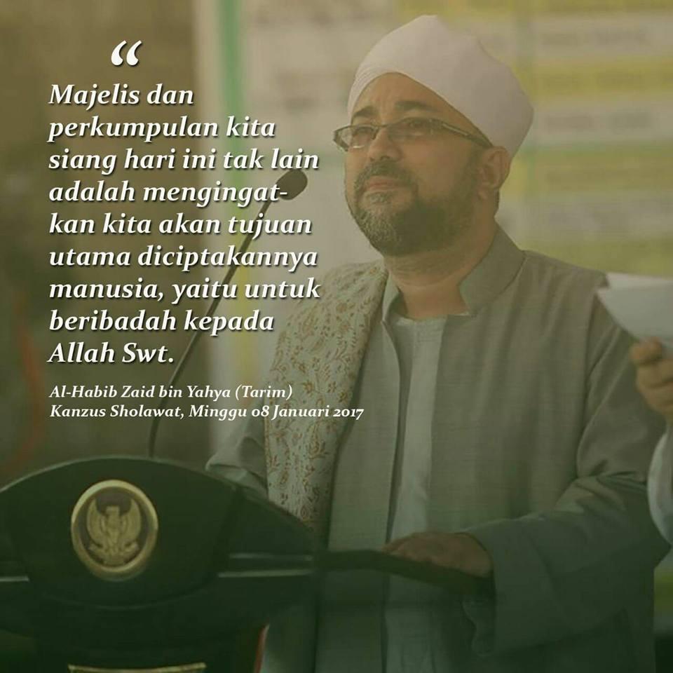 Mutiara Nasehat Untuk Umat Islam Dari Al Habib Zaid Bin Yahya Meme