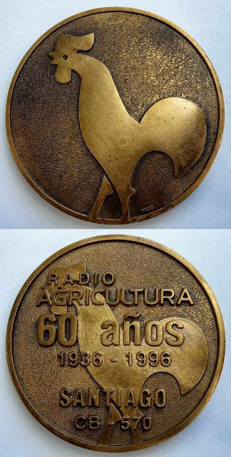 MEDALLA RADIO AGRICULTURA 60 AÑOS/ 1936 - 1996