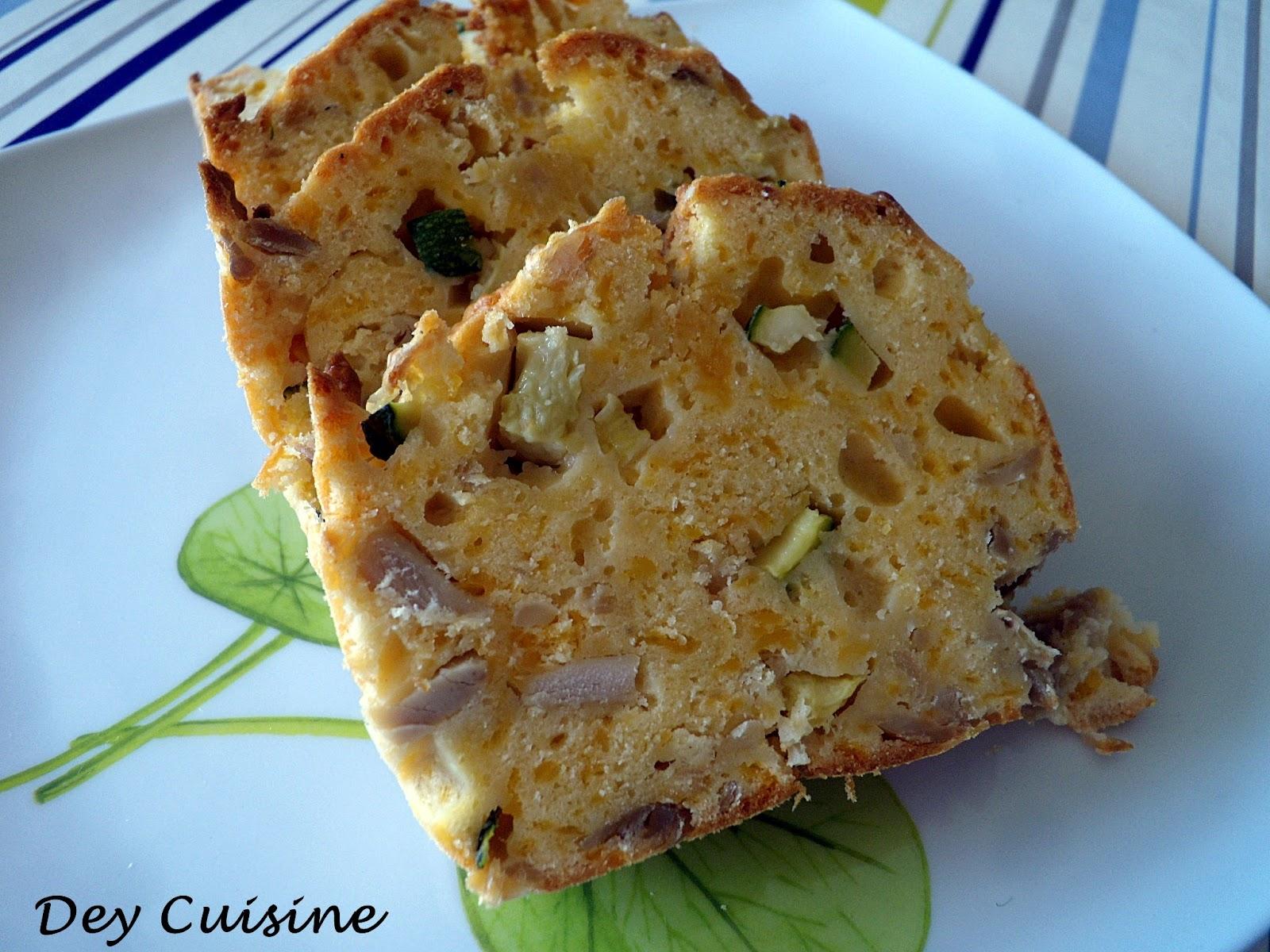Recette Cake Poulet Courgette Mimolette