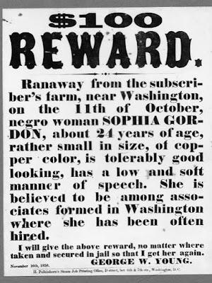 Slave Reward 1858