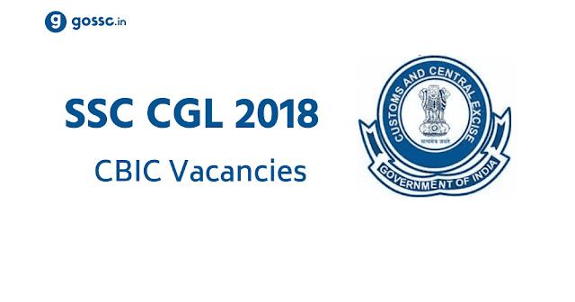 SSC CGL 2018 CBIC Inspector TA Vacancies
