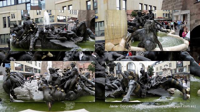 Fuente El Carrusel del Matrimonio en Nuremberg.  Ehekarussell