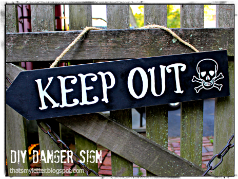 diy keep out sign
