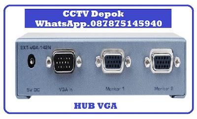 CCTV, CCTV Depok, HUB VGA, CCTV 2 Monitor