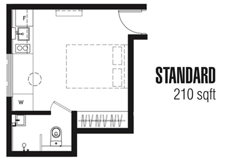 One Tree at Outram Standard Suites - Floor Plan