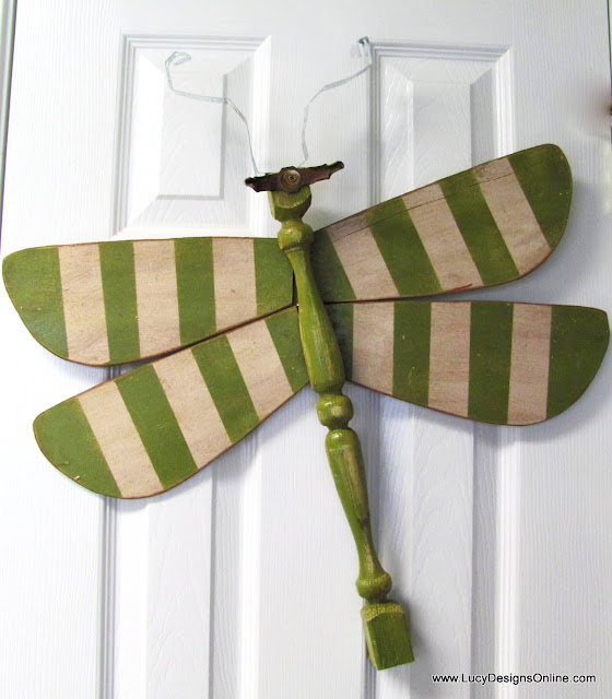 green stripes dragonfly