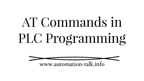 AT Commands Use in PLC Programming
