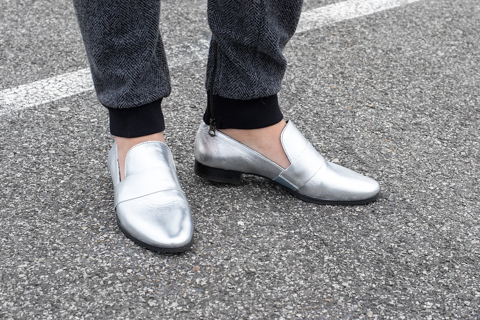 sacha shoes, metallic, silver, loafers, SS17,minimal