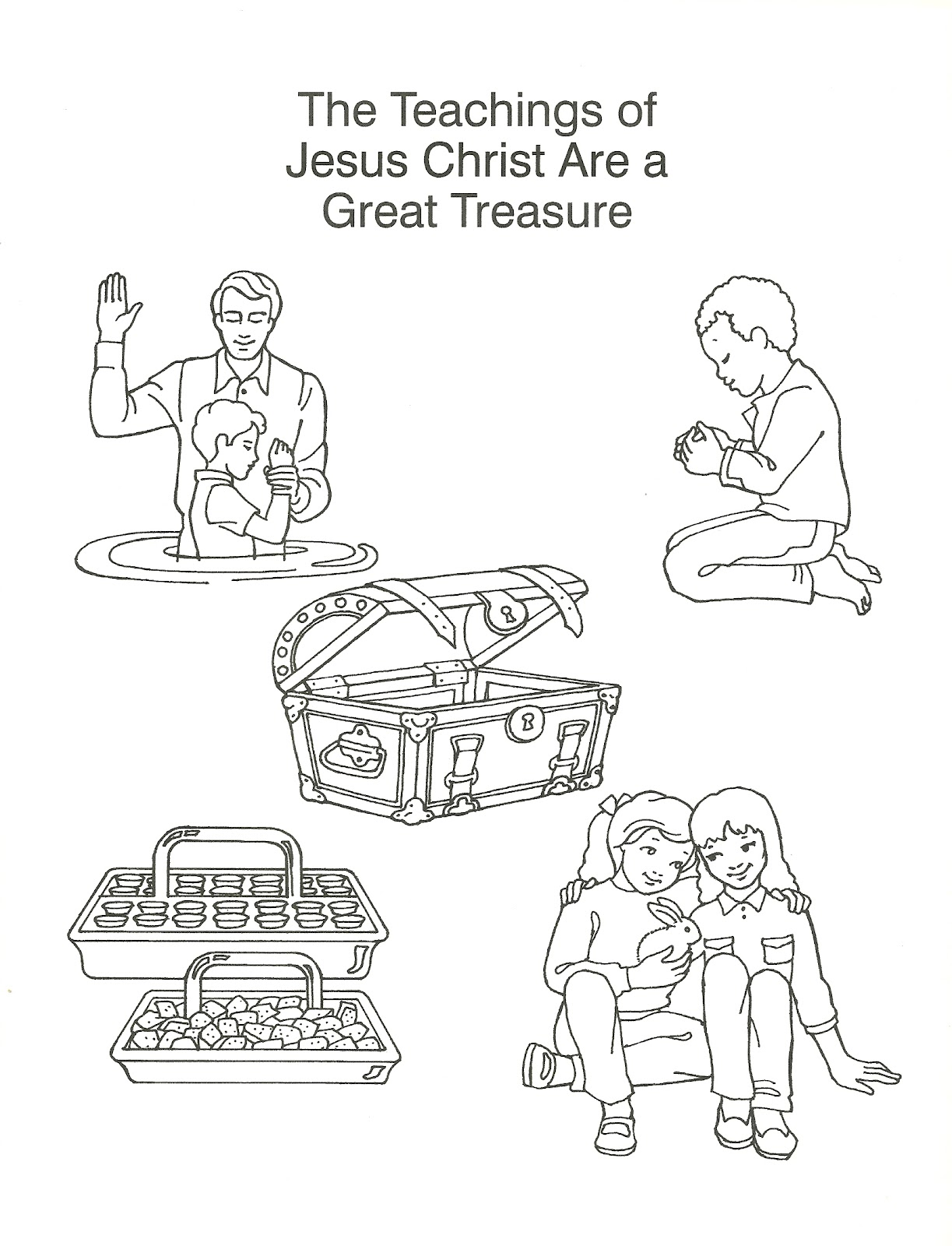 Free coloring pages of treasures in heaven