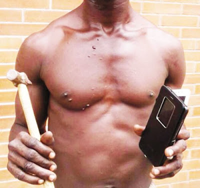 Traffic Robbery Suspect Caught In The Act In Lagos