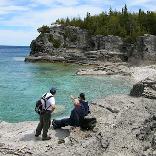 Hiker on the Bruce Trail at Indian Head Cove. Photograph by Janie Robinson, Travel Writer