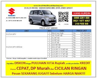 Suzuki APV Bandung 2016, Harga Suzuki APV 2016, Kredit Suzuki APV 2016