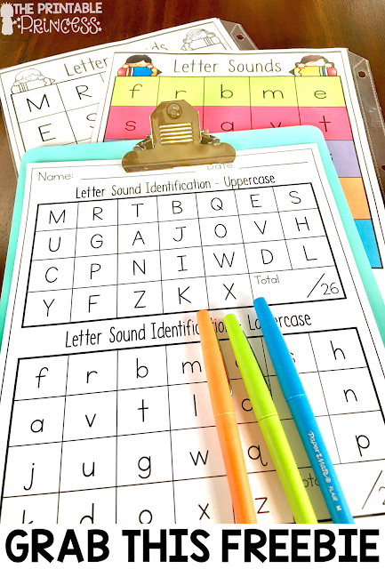 Beginning sounds is an important skill in Kindergarten and early primary classrooms. Stop by and pick up a FREE beginning sounds assessment tool. Plus you'll also find loads of ideas for letter sound practice. Easy and practical activities that require little or no prep. You'll find games, pocket chart activities, centers, printables, and more.