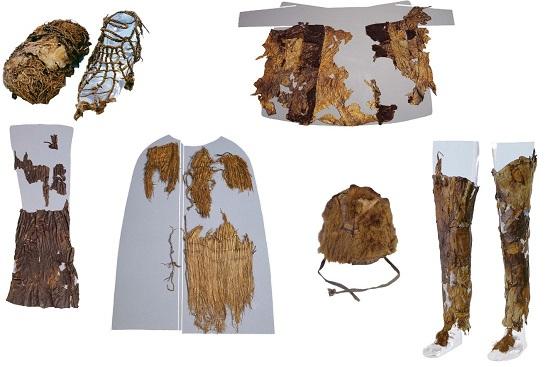 Certains des restes trouvés sur l'Homme des Glaces.