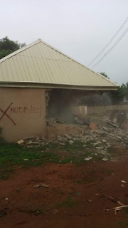 Photos: CEO of Breeze FM says Nasarawa State Govt demolished the private radio station