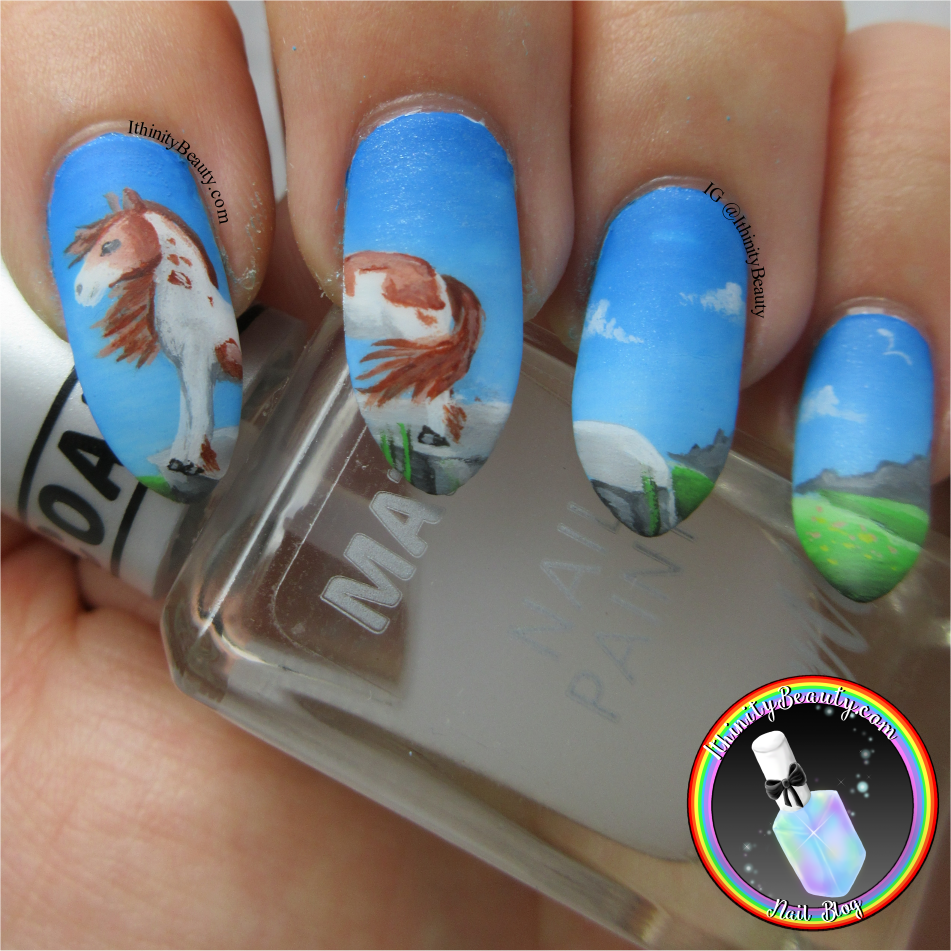 Rescue A horse day - Freehand Horse Nail Art Design | IthinityBeauty ...
