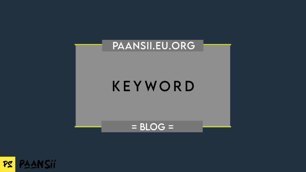 Gunakan Keyword (Kata Kunci) Dalam Membuat Judul Halaman