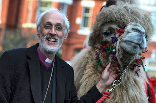 Bishop David Walker and a camel