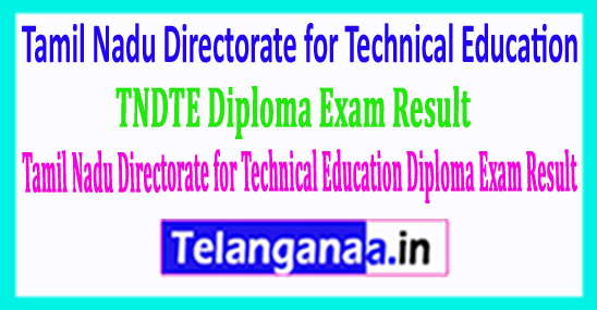 Tamil Nadu Directorate for Technical Education TNDTE Diploma Exam Result 2018
