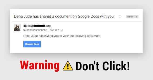 google doc scam