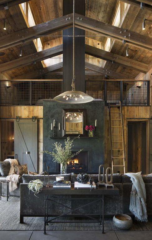 loft living room decor idea