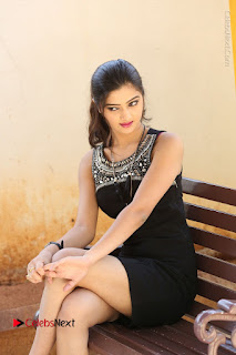 Actress Poojitha Pallavi Naidu Stills in Black Short Dress at Inkenti Nuvve Cheppu Movie Platinum Disc Function  0178.JPG