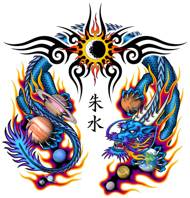 Afrenchieforyourthoughts: Dragon Tattoos Designs Part I