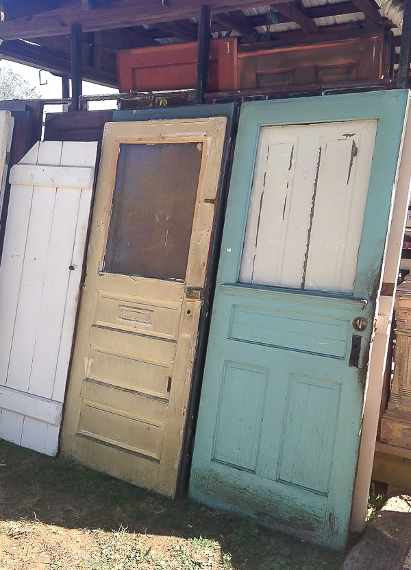 Lucketts: Chippy vintage doors