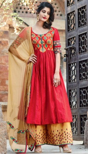 Top Anarkali Salwar Trend For Diwali with palazzo