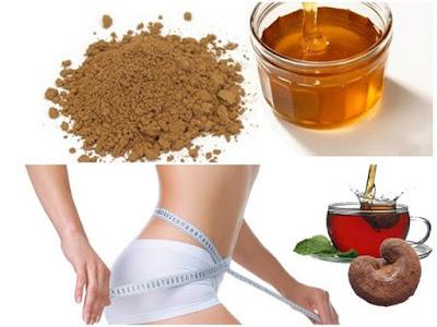 Dùng bột nấm linh chi pha trà uống giúp giảm mỡ thừa