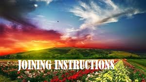Joining Instruction Form Five