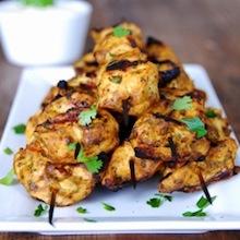 how to make tandoori chicken skewers recipe