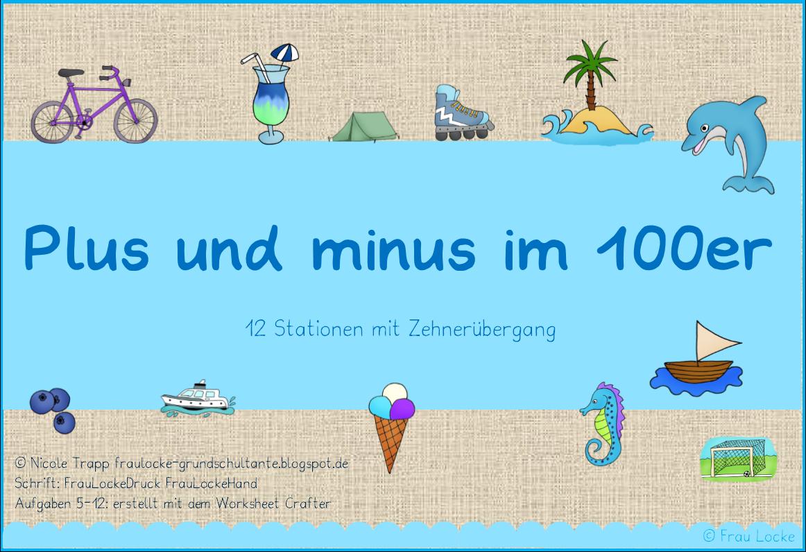 Kartei Plus Und Minus Im 100er