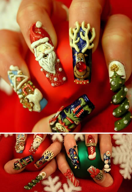 Christmas Nail Art Designs: Christmas Nail Art Design ...
