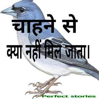 Motivation  stories in hindi with moral-चाहने से क्या नहीं मिल जाता।