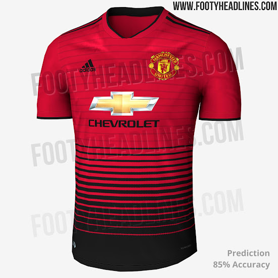 new product 111d6 95d55 Manchester United 18-19 Home Kit + Shin Pads Leaked - Footy ...