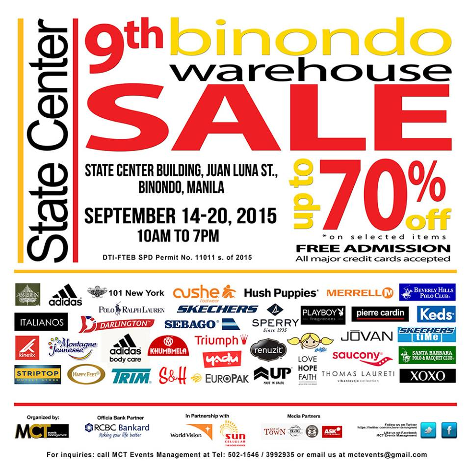 1da4b3cf02f2 9th Binondo Warehouse Sale Sept 14 to 20 2015