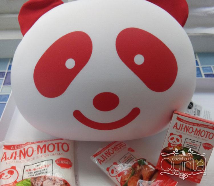 Presskit da Ajinomoto no lançamento das novas embalagens de AJI-NO-MOTO com o fofo AjiPanda <3