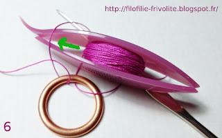 Tutoriel double-crochetage sur anneau en métal