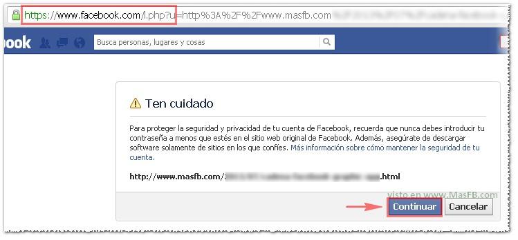 Facebook mensaje ten cuidado