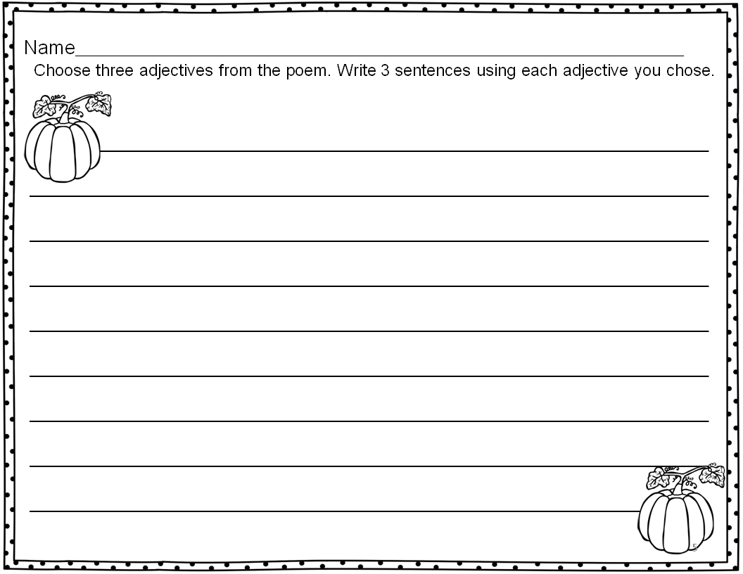 Pumpkin Patch Poems Kindergarten Download