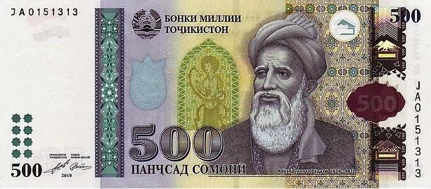 Банкнота 500 сомони Таджикистан