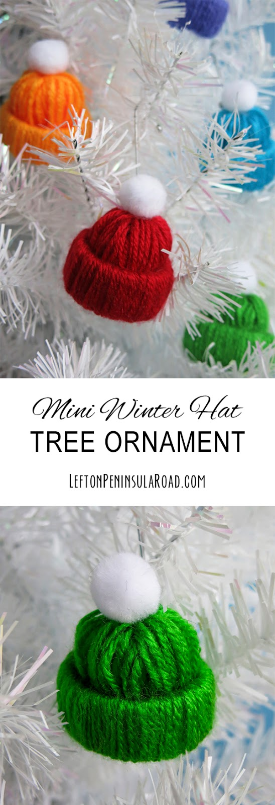 Miniature Winter Hat Christmas tree Ornament Craft