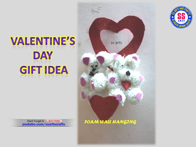Here is valentine's day gift craft ideas,foam sheet crafts,woolen teddy bear,how to make gifts at home for valentine's day,pop up cards making at home,woolen crafts for home decoration,foam gifts for valentines day,valentines day gifts making at home,foam wall hanging ideas,how to make valentines day gift at home