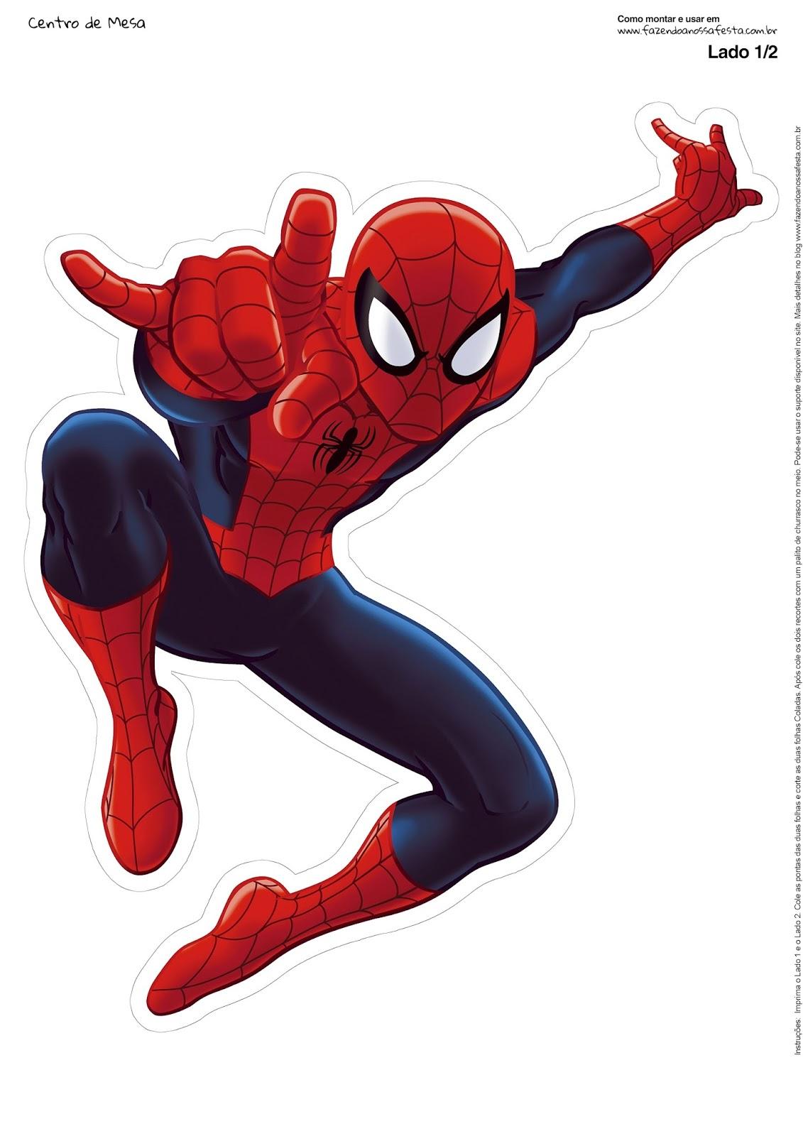Spiderman Free Printable Centerpiece