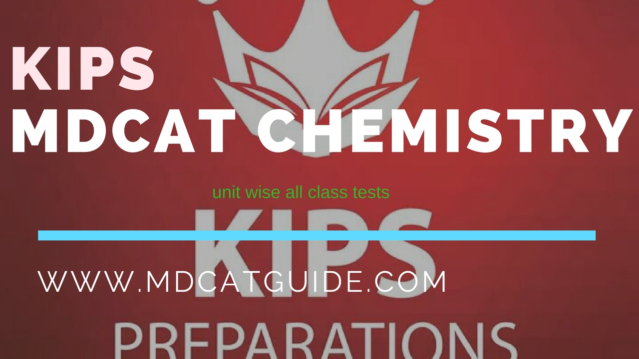 KIPS MDCAT Chemistry Unit Wise All Tests | MDCAT Guide