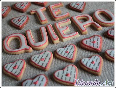 Galletas románticas de corazón